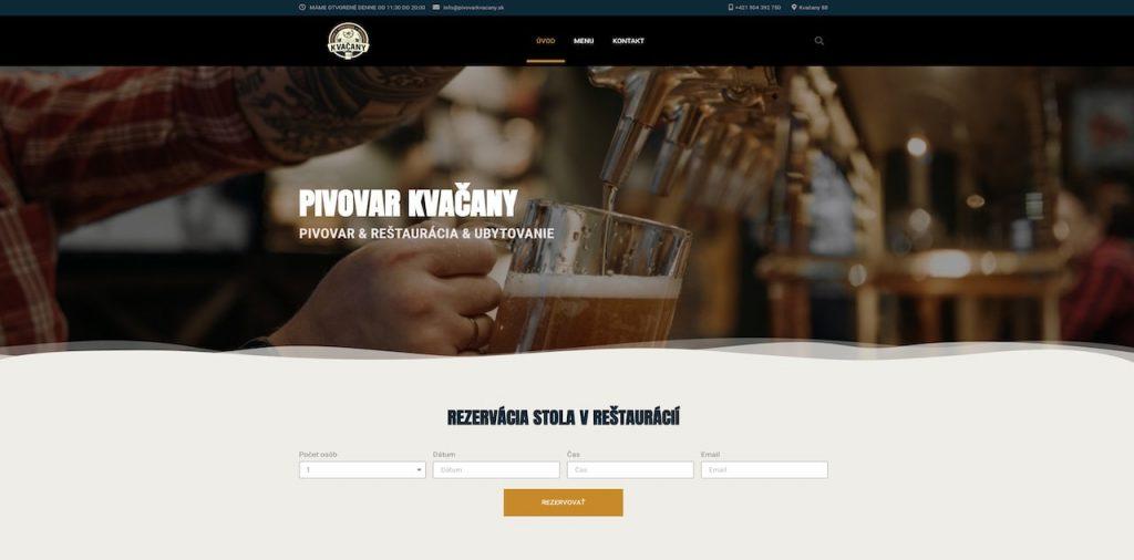 Pivovar Kvačany